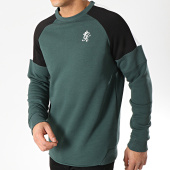 /achat-sweats-col-rond-crewneck/gym-king-sweat-crewneck-core-plus-contrast-vert-noir-blanc-176256.html