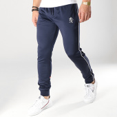 /achat-pantalons-joggings/gym-king-pantalon-jogging-diego-retro-taped-poly-bleu-marine-176271.html