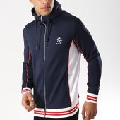 /achat-vestes/gym-king-veste-zippee-capuche-rice-contrast-tipped-poly-bleu-marine-176273.html