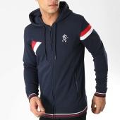 /achat-sweats-zippes-capuche/gym-king-sweat-zippe-capuche-armstrong-fz-bleu-marine-176285.html