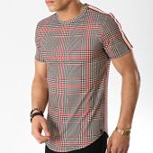 /achat-t-shirts-longs-oversize/uniplay-tee-shirt-oversize-avec-bande-t580-beige-rouge-176405.html