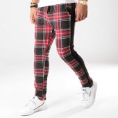 /achat-pantalons-carreaux/uniplay-pantalon-a-carreaux-avec-bandes-go52-rouge-noir-176424.html