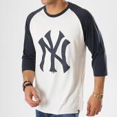 /achat-t-shirts/47-brand-tee-shirt-raglan-new-york-yankees-beige-bleu-marine-176513.html