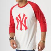 /achat-t-shirts/47-brand-tee-shirt-raglan-new-york-yankees-beige-rouge-176529.html