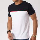 /achat-t-shirts/brave-soul-tee-shirt-stanley-blanc-bleu-marine-176724.html