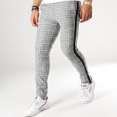 /achat-pantalons-carreaux/classic-series-pantalon-carreaux-avec-bandes-5023-gris-rose-clair-noir-176577.html