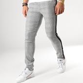 /achat-pantalons-carreaux/classic-series-pantalon-a-carreaux-avec-bandes-5023-gris-noir-176578.html