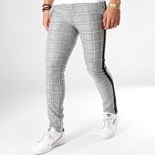 /achat-pantalons-carreaux/classic-series-pantalon-carreaux-avec-bandes-5023-gris-bleu-clair-noir-176601.html