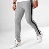 /achat-pantalons-carreaux/classic-series-pantalon-avec-bandes-5023-noir-blanc-176603.html