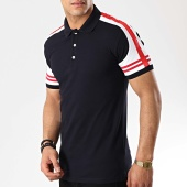 /achat-polos-manches-courtes/classic-series-polo-manches-courtes-a-bandes-lion-10-bleu-marine-rouge-blanc-176635.html
