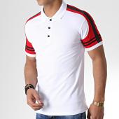 /achat-polos-manches-courtes/classic-series-polo-manches-courtes-a-bandes-lion-10-blanc-rouge-noir-176641.html