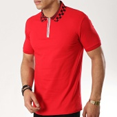 /achat-polos-manches-courtes/classic-series-polo-manches-courtes-lion-13-rouge-176667.html