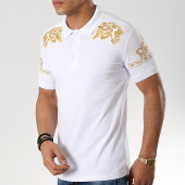 /achat-polos-manches-courtes/classic-series-polo-manches-courtes-lion-11-blanc-dore-176670.html