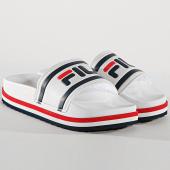 /achat-claquettes-sandales/fila-claquettes-femme-morro-bay-zeppa-1010639-02p-blanc-176467.html