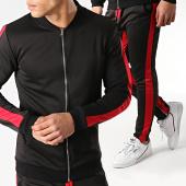 /achat-ensembles-survetement/frilivin-ensemble-de-survetement-avec-bandes-6095a-noir-rouge-176436.html