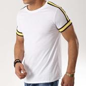 /achat-t-shirts/frilivin-tee-shirt-avec-bandes-b8103-blanc-jaune-176449.html