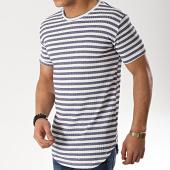 /achat-t-shirts-longs-oversize/frilivin-tee-shirt-oversize-5273-blanc-bleu-marine-176475.html