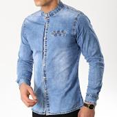 /achat-chemises-manches-longues/frilivin-chemise-manches-longues-col-mao-ca612-bleu-clair-176483.html