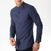 /achat-chemises-manches-longues/mtx-chemise-manches-longues-col-mao-cm323-bleu-marine-176564.html