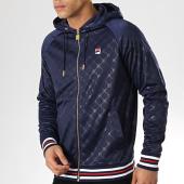 /achat-sweats-zippes-capuche/fila-sweat-zippe-capuche-royce-embossed-684496-bleu-marine-176750.html