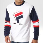 /achat-sweats-col-rond-crewneck/fila-sweat-crewneck-lambert-684528-blanc-bleu-marine-rouge-176760.html