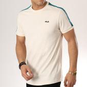 /achat-t-shirts/fila-tee-shirt-avec-bandes-salus-687010-ecru-vert-176775.html