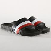 /achat-claquettes-sandales/lbo-claquettes-682-noir-tricolore-bleu-blanc-rouge-176813.html