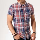 /achat-chemises-manches-courtes/mtx-chemise-manches-courtes-99801-carreaux-rouge-bleu-marine-176875.html