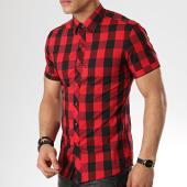 /achat-chemises-manches-courtes/mtx-chemise-manches-courtes-dx295-carreaux-noir-rouge-176900.html