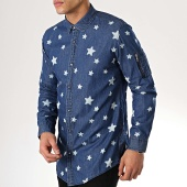 /achat-chemises-manches-longues/mtx-chemise-manches-longues-poche-bomber-99087-bleu-denim-176927.html