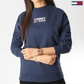 /achat-sweats-col-rond-crewneck/tommy-hilfiger-jeans-sweat-crewneck-femme-bold-tommy-6124-bleu-marine-176905.html