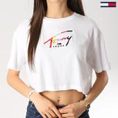 /achat-t-shirts/tommy-hilfiger-jeans-tee-shirt-crop-femme-script-6224-blanc-176908.html