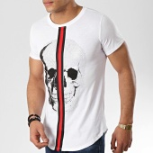 /achat-t-shirts-longs-oversize/classic-series-tee-shirt-oversize-avec-bandes-9088-blanc-177042.html