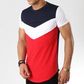 /achat-t-shirts-longs-oversize/classic-series-tee-shirt-oversize-9089-bleu-marine-blanc-rouge-177055.html