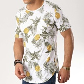 /achat-t-shirts-longs-oversize/classic-series-tee-shirt-poche-oversize-8156-blanc-floral-177056.html