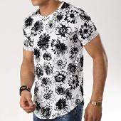 /achat-t-shirts-longs-oversize/classic-series-tee-shirt-oversize-a7241-blanc-noir-floral-177059.html