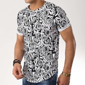 /achat-t-shirts-longs-oversize/classic-series-tee-shirt-oversize-a7241-blanc-noir-floral-177061.html