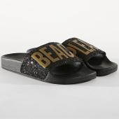 /achat-claquettes-sandales/girls-only-claquettes-femme-glitter-beach-l0174-noir-dore-177049.html