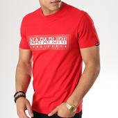 /achat-t-shirts/napapijri-tee-shirt-sele-n0yiei-rouge-177024.html