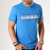 /achat-t-shirts/napapijri-tee-shirt-sele-n0yiei-bleu-clair-177025.html