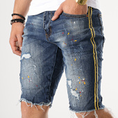 /achat-shorts-jean/classic-series-short-jean-bandes-brodees-58052-bleu-denim-177263.html