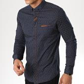 /achat-chemises-manches-longues/black-needle-chemise-manches-longues-3387-bleu-marine-marron-177300.html