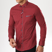 /achat-chemises-manches-longues/black-needle-chemise-manches-longues-3387-bordeaux-gris-177305.html