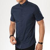 /achat-chemises-manches-courtes/classic-series-chemise-manches-courtes-3389-bleu-marine-blanc-177307.html