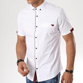 /achat-chemises-manches-courtes/black-needle-chemise-manches-courtes-3389-blanc-bordeaux-177308.html