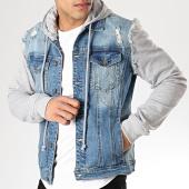 /achat-vestes-jean/classic-series-veste-jean-a-capuche-2435-bleu-denim-gris-chine-177343.html
