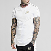 /achat-t-shirts-longs-oversize/siksilk-tee-shirt-oversize-a-bandes-14337-blanc-dore-177214.html