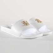 /achat-claquettes-sandales/siksilk-claquette-roma-lux-slide-14804-blanc-dore-177218.html