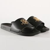 /achat-claquettes-sandales/siksilk-claquette-roma-lux-slide-14804-noir-dore-177220.html