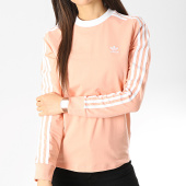 /achat-t-shirts-manches-longues/adidas-tee-shirt-manches-longues-femme-3-stripes-dv2606-rose-blanc-177543.html